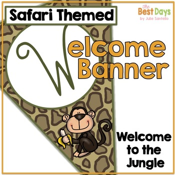 Safari Themed Classroom Decor:  Welcome Banner