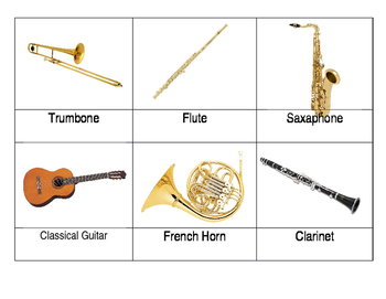 Safari Toob Musical Instruments Matchup Cards