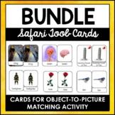 Safari TOOB and Toy-Matching 3-Part Cards Growing Bundle | Editable