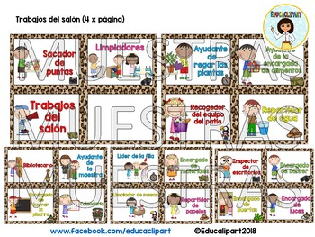 Safari - Trabajos del salón (Spanish Class helpers)