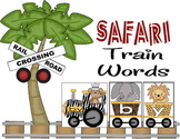 Safari Train Words - 1st Grade Sight Word Activity