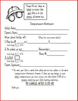 Safari Transportation Form