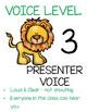 Safari Voice Level Posters