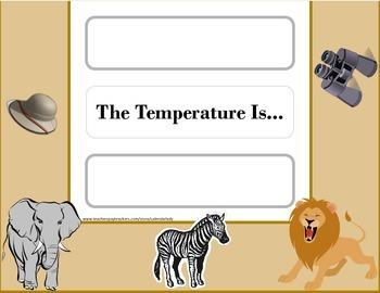 Safari Weather Chart! Safari Theme! Safari Bulletin Board! African Safari!