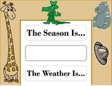 Safari Weather Chart! Safari Theme! Safari Bulletin Board!
