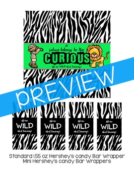 Safari Welcome Candy Bar Wrappers