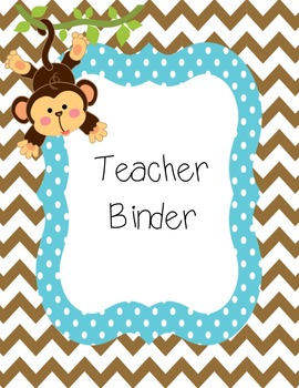 Safari Wild animals classroom: binder covers