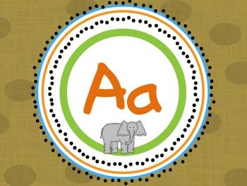 Safari Word Wall Headers