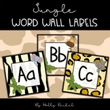 Jungle Word Wall Labels