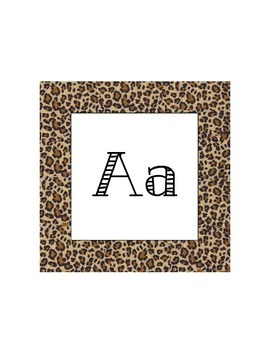 Safari Word Wall Letters