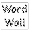 Safari Word Wall Letters