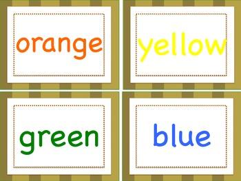 Safari Word Wall Words
