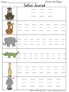 Safari Write / Stamp the Room Spelling Vocabulary Game
