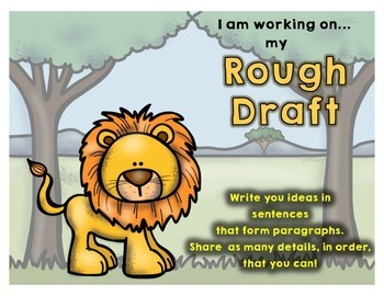 Safari Writing Process Posters with Writing Statements Included