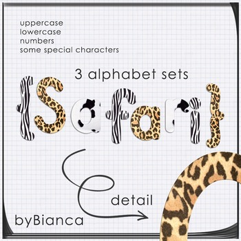 Safari {alphabet} - commercial use