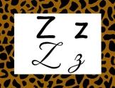 Safari alphabet poster