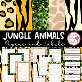 Jungle Animal Labels and Paper