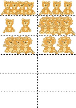 Safari animals flashcards counting game colour