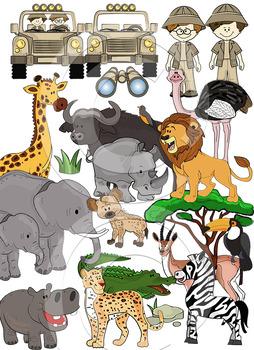 Safari clipart bundle