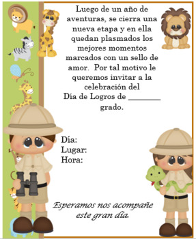 Safari invitation Editable!!!