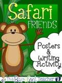 Safari or Jungle Posters (11 Total) & Writing Activity