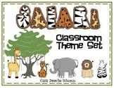 Safari or Jungle Themed Classroom Set