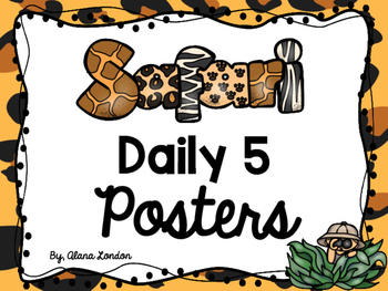 Safari or Jungle-Themed Daily 5 Station Signs FREEBIE