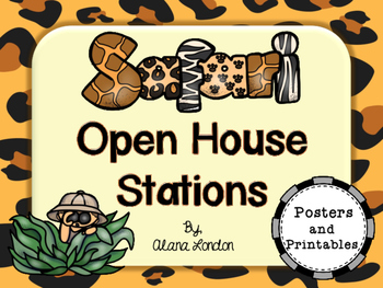 Safari or Jungle-Themed Open House Stations (Activities)