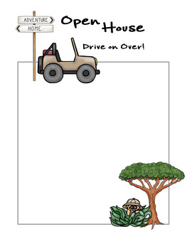Safari / Jungle theme - Open House Announcements and Parent Name tags