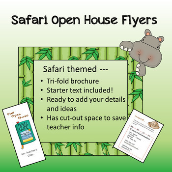 Safari / Jungle theme - Open House Flyer / 3-fold Brochure