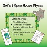 Safari / Jungle theme - Open House Flyer / 3-fold Brochure