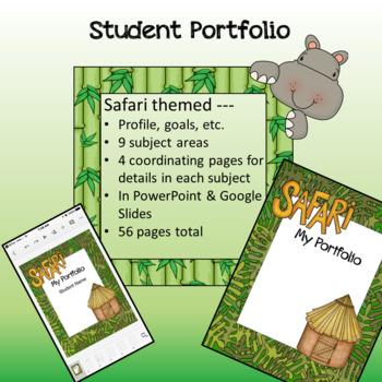 Safari / Jungle theme - Student Portfolio
