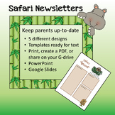 Safari / Jungle theme - Weekly Newsletters