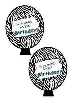 Safari theme birthday balloons