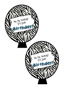Safari theme birthday balloons