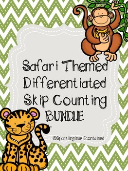 Safari themed skip counting bundle (2, 5, & 10) #spedislucky