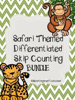 Safari themed skip counting bundle (2, 5, & 10)