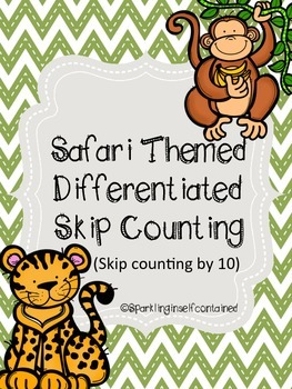 Safari themed skip counting by 10