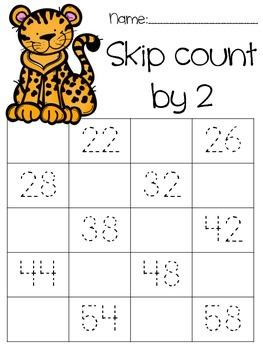 Safari themed skip counting by 2