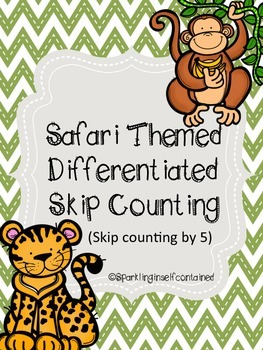 Safari themed skip counting by 5