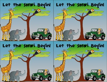Safari/Jungle Animal Welcome Postcard