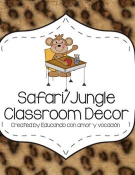 Safari/Jungle Classroom Decor