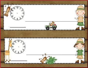 Safari/Jungle Classroom Schedule Poster