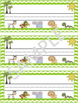 Safari/Jungle Desk Nametags