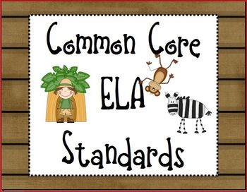 "Safari/Jungle ELA Common Core State Standards ""I Can"" Posters"
