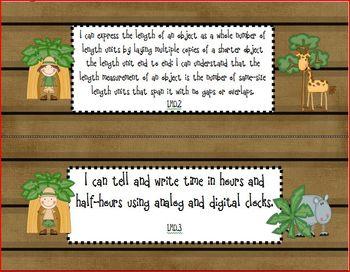 """Safari/Jungle Math Common Core State Standards """"I Can"""" Posters"""
