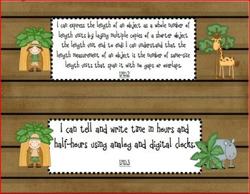 "Safari/Jungle Math Common Core State Standards ""I Can"" Posters"