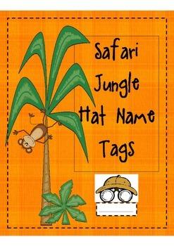 Safari/Jungle Hat Name Tags