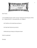 Safari/Jungle Theme Parent Packet for Back to School Night
