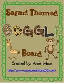 Safari/Jungle Themed BOGGLE Board